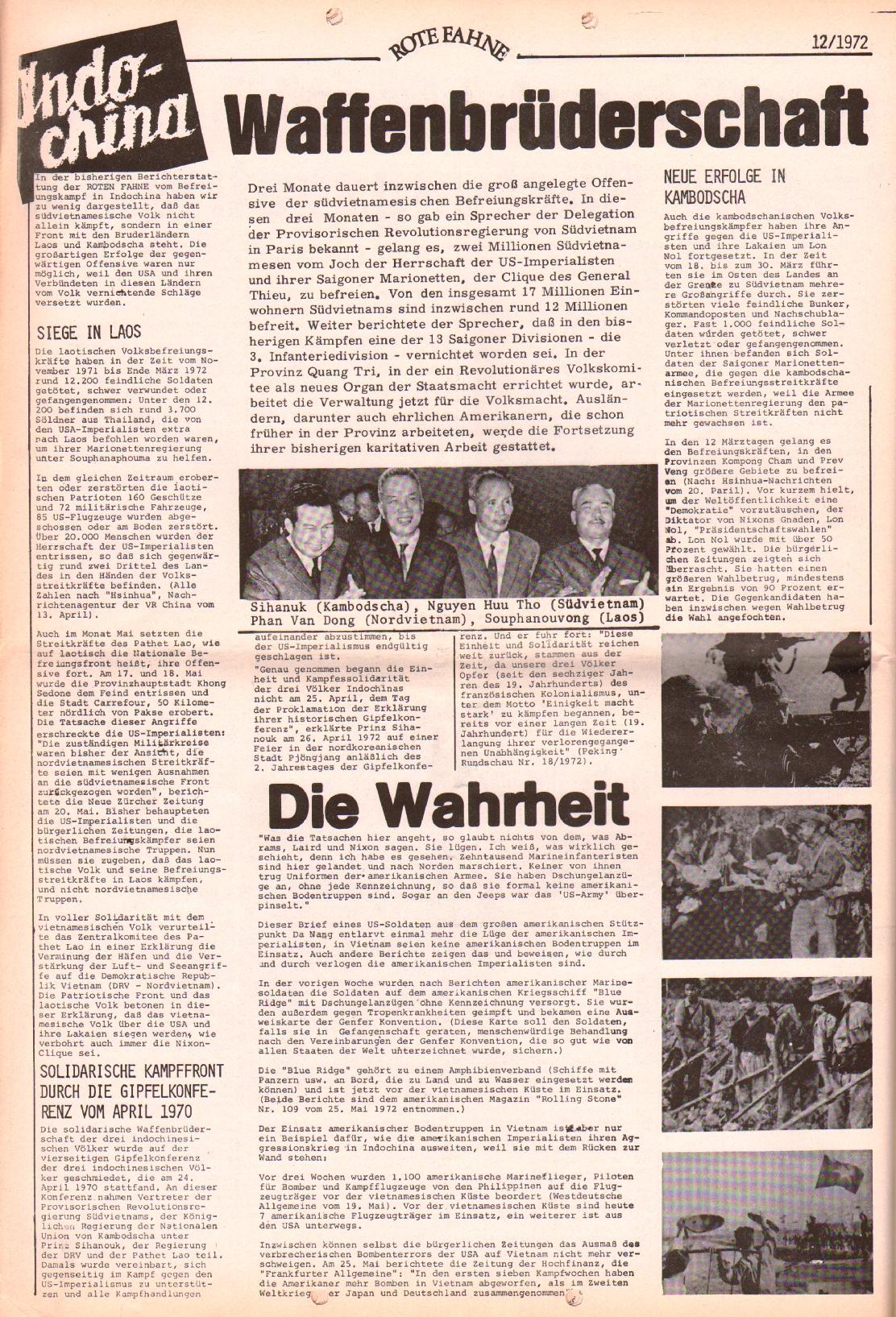 Rote Fahne, 3. Jg., 12.6.1972, Nr. 12, Seite 10