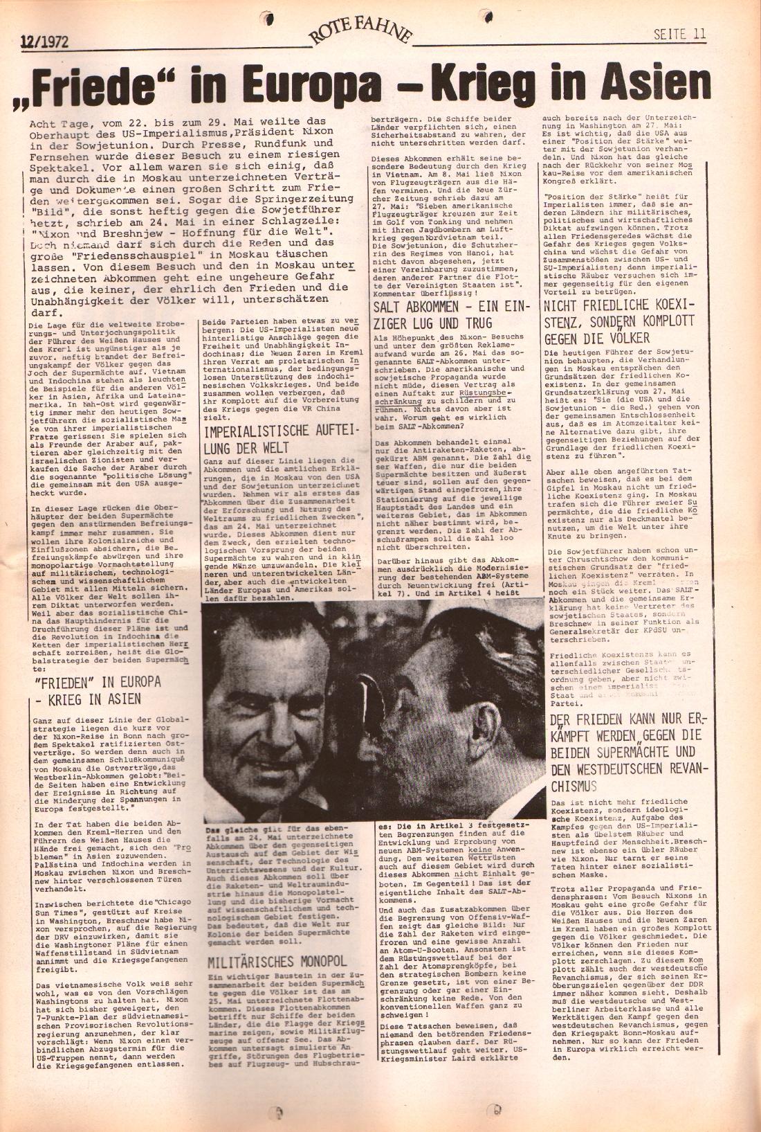 Rote Fahne, 3. Jg., 12.6.1972, Nr. 12, Seite 11