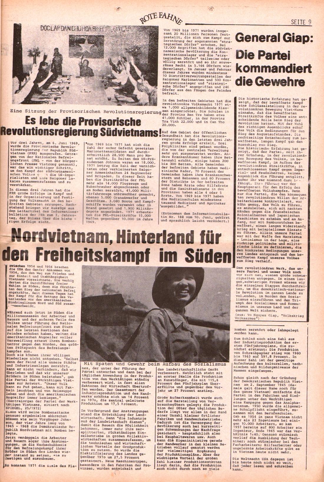 Rote Fahne, 3. Jg., 28.6.1972, Nr. 13, Seite 9