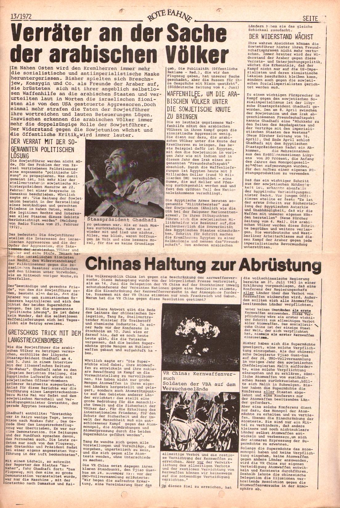 Rote Fahne, 3. Jg., 28.6.1972, Nr. 13, Seite 11