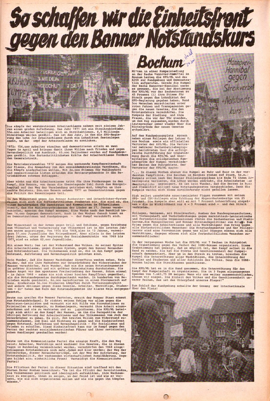 Rote Fahne, 3. Jg., 28.6.1972, Nr. 13, Beilage, Seite 1