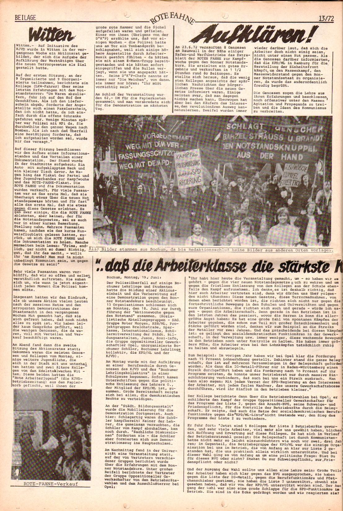 Rote Fahne, 3. Jg., 28.6.1972, Nr. 13, Beilage, Seite 2