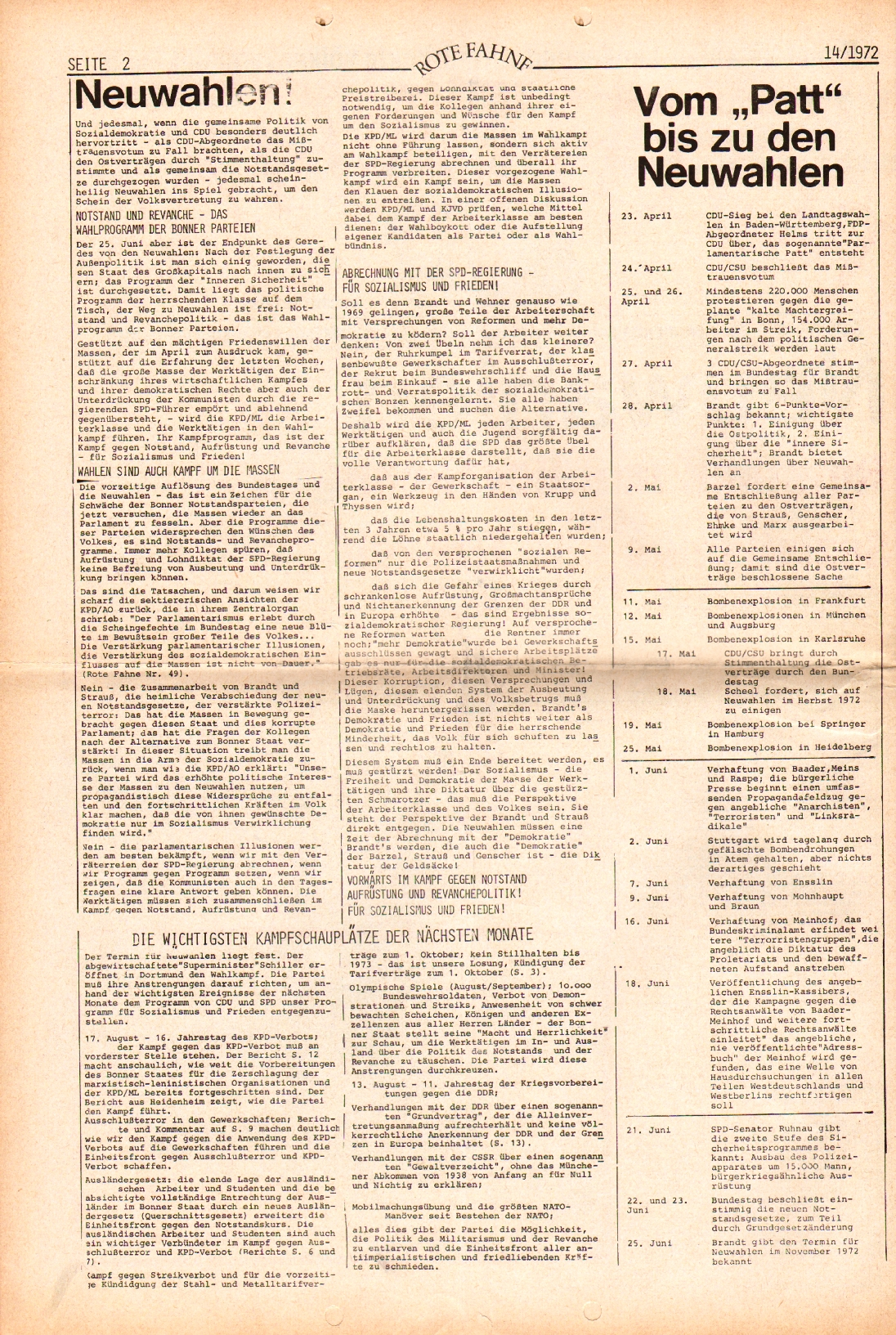 Rote Fahne, 3. Jg., 10.7.1972, Nr. 14, Seite 2
