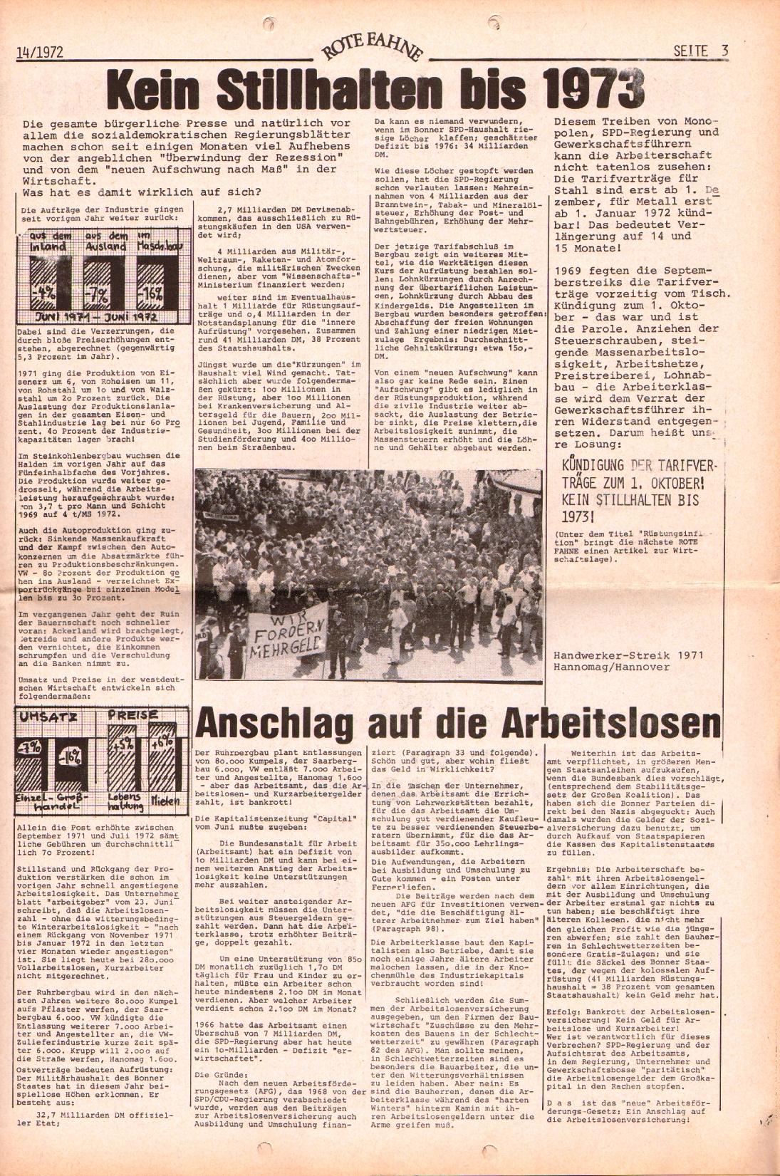 Rote Fahne, 3. Jg., 10.7.1972, Nr. 14, Seite 3