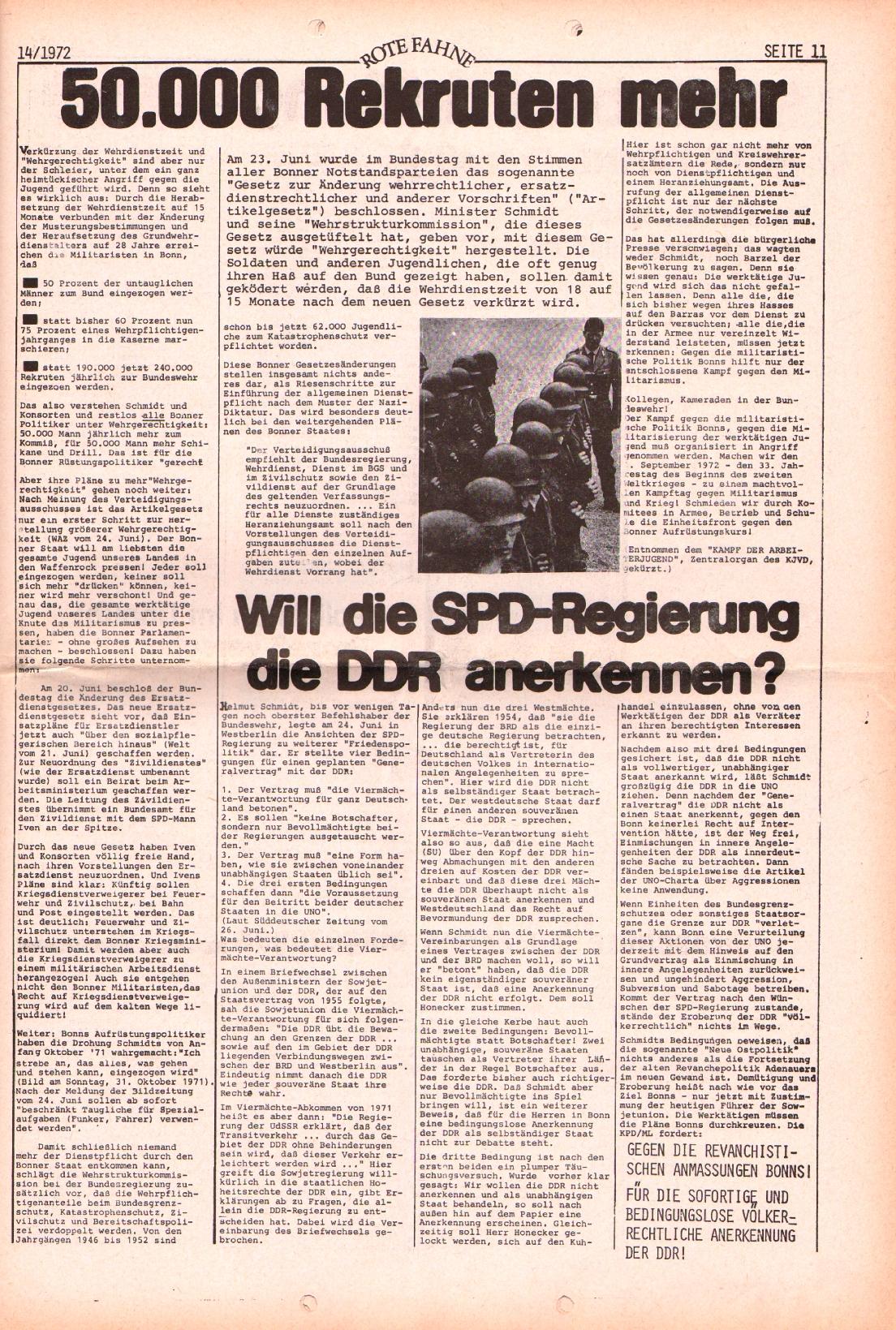 Rote Fahne, 3. Jg., 10.7.1972, Nr. 14, Seite 11