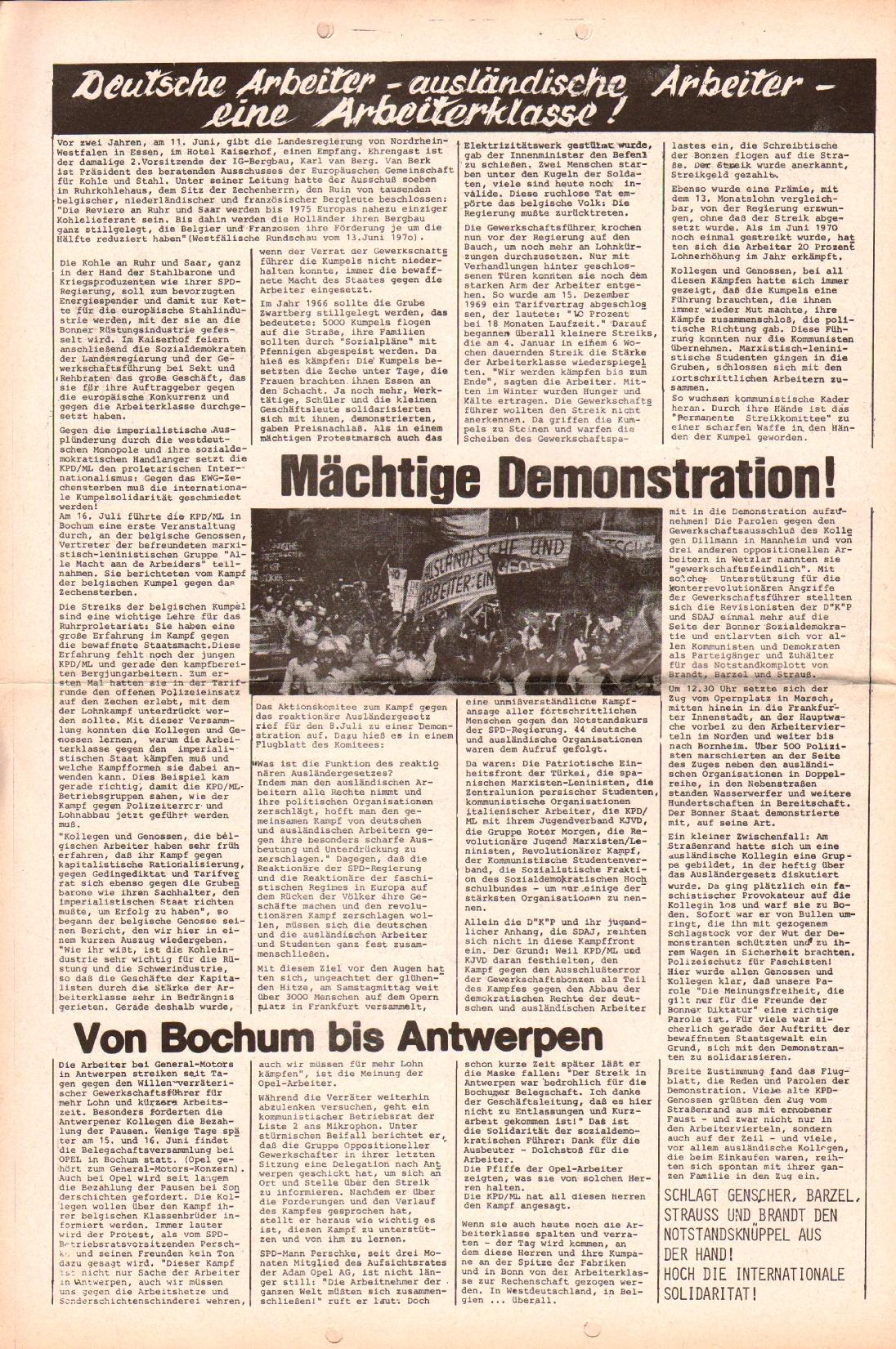 Rote Fahne, 3. Jg., 24.7.1972, Nr. 15, Seite 4