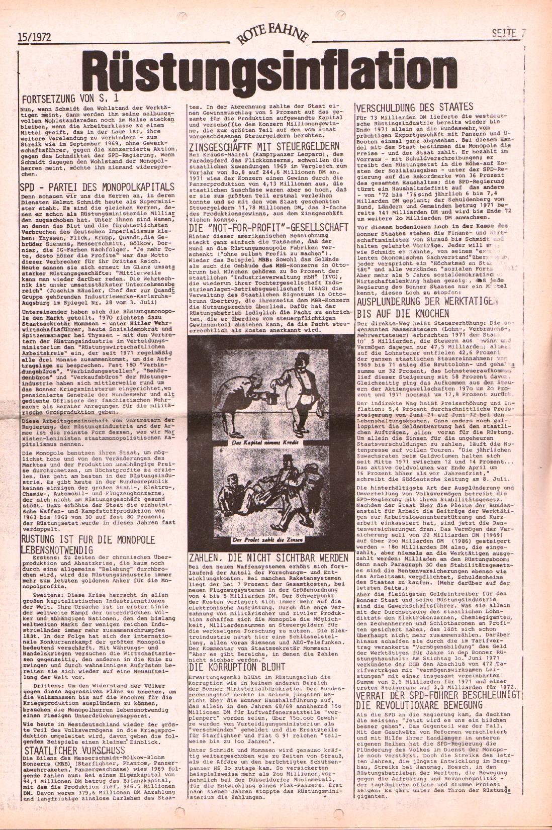 Rote Fahne, 3. Jg., 24.7.1972, Nr. 15, Seite 7