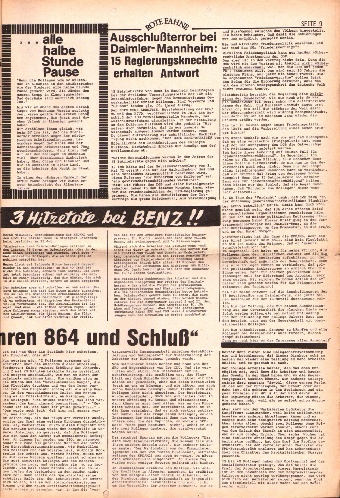 Rote Fahne, 3. Jg., 7.8.1972, Nr. 16, Seite 9