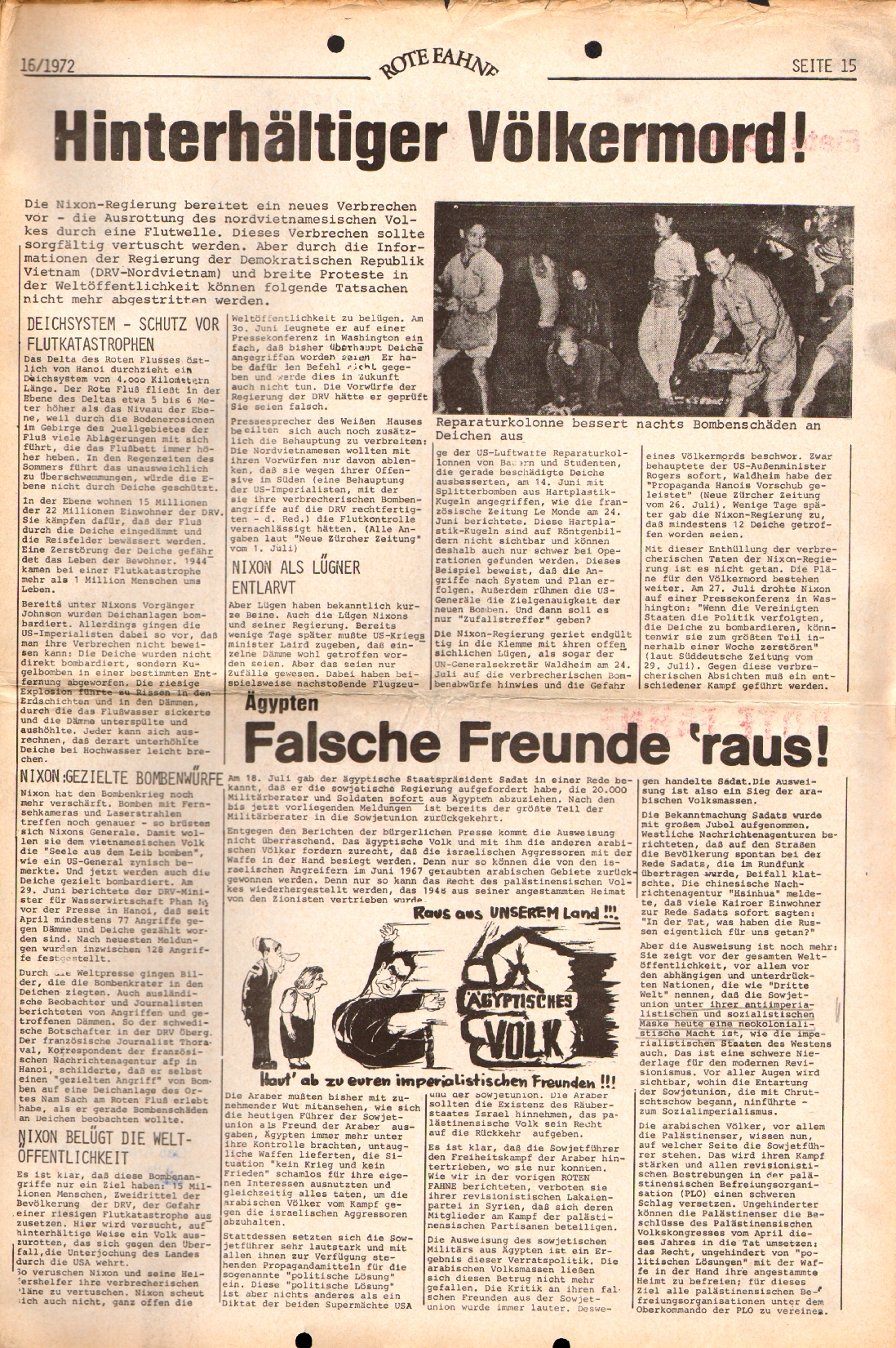 Rote Fahne, 3. Jg., 7.8.1972, Nr. 16, Seite 15