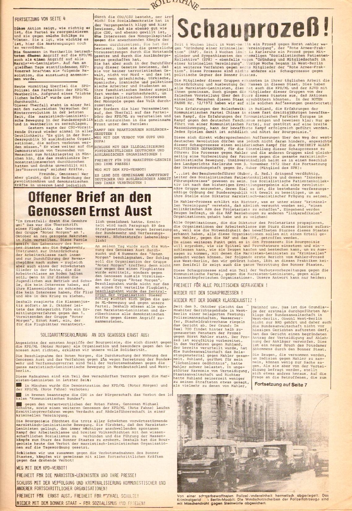 Rote Fahne, 3. Jg., 1.12.1972, Nr. 22, Seite 5
