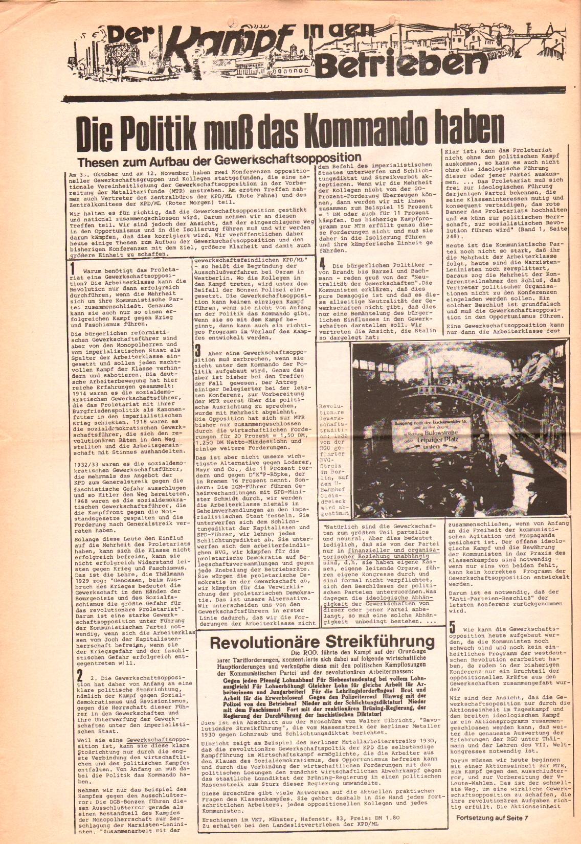 Rote Fahne, 3. Jg., 1.12.1972, Nr. 22, Seite 6