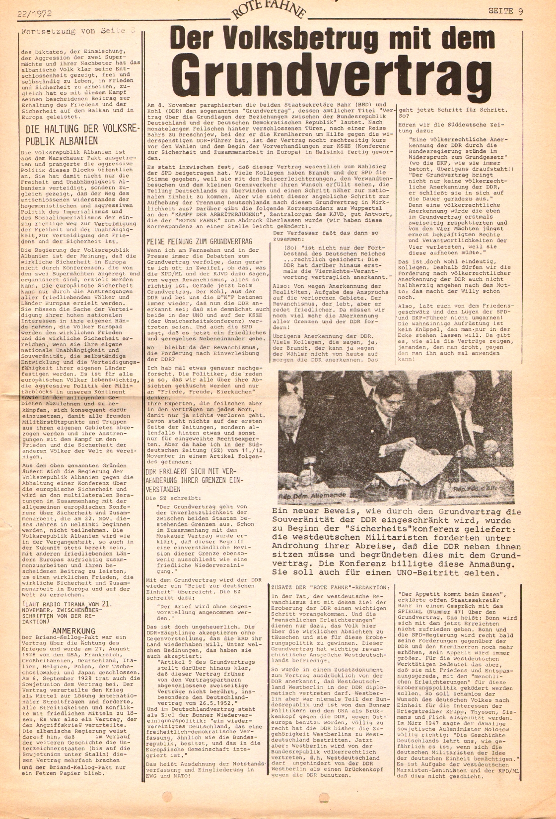 Rote Fahne, 3. Jg., 1.12.1972, Nr. 22, Seite 9