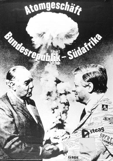 Atomgeschäft Bundesrepublik _ Südafrika (Plakat)