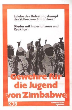 Plakat: Gewehre für die Jugend von Zimbabwe (KJB)