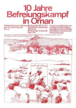 Plakat: 10 Jahre Befreiungskampf in Oman