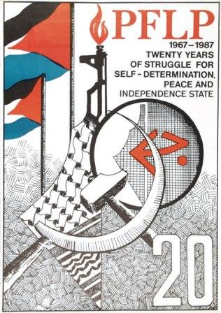 Plakat: PFLP 1967 _ 1987. Twenty years of struggle for self_determination, peace and independence state