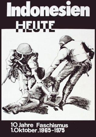 Plakat: Indonesien heute - 10 Jahre Faschismus [1975]