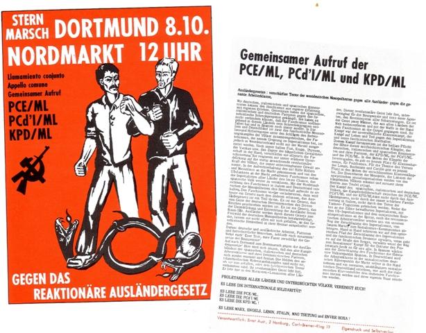 Aufruf zur Demo in Dortmund am 8.10.1972