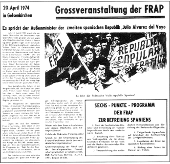 Aufruf zur Grossveranstaltung am 20.4.1974 in Gelsenkirchen