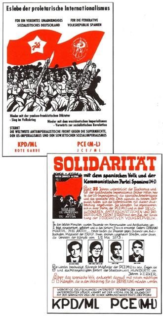 Gemeinsame Plakate von PCE/ML und KPD/ML (Roter Morgen)
