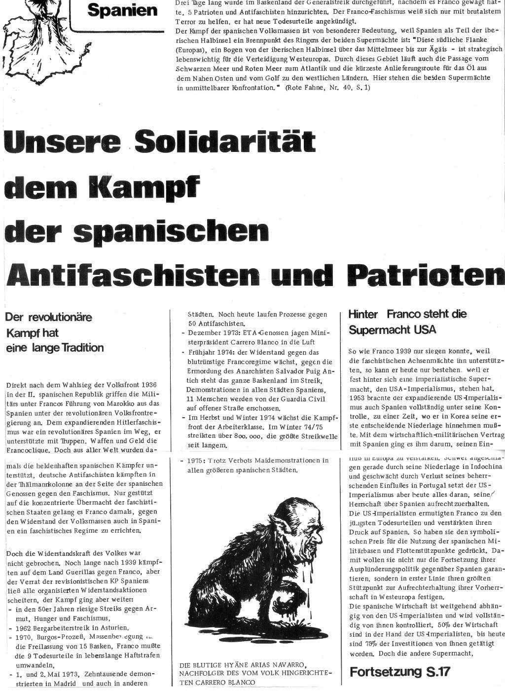 Massenstreiks in Spanien, aus: DVD 14/75 vom 15. Oktober 1975, Seite 3
