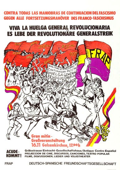 Plakat zu einer bundesweiten Großveranstaltung der FRAP in Gelsenkirchen