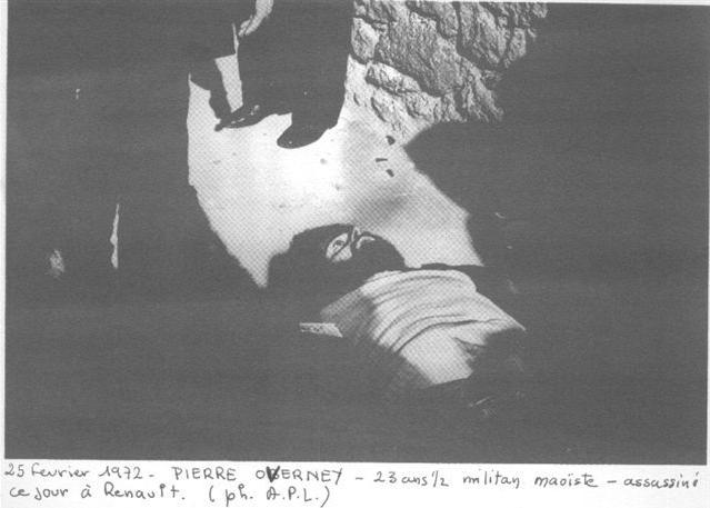 Der tote Pierre Overney (Quelle: Gauche prolétarienne)