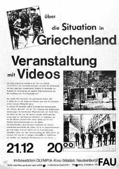 Über die Situation in Griechenland (Plakat, 1985)