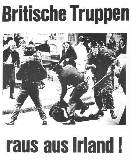 Plakat: Britische Truppen raus aus Irland