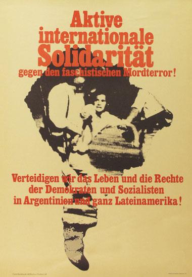 Plakat: Aktive internationale Solidaritaet Argentinien (ohne Datum)