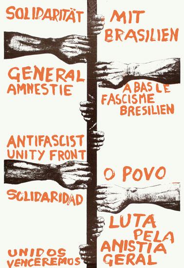 Plakat: Solidarität mit Brasilien