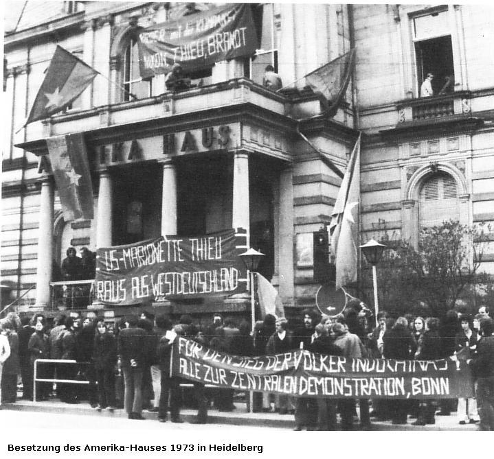 Besetzung des Amerika_Hauses 1973 in Heidelberg