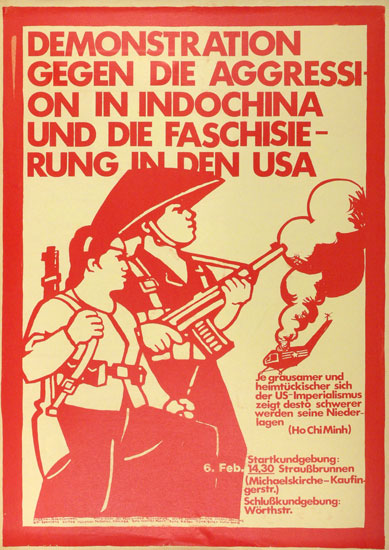 Demonstration gegen die Aggression in Indochina (Plakat 1971)