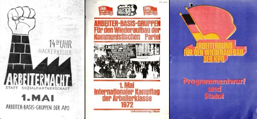 Plakate der Arbeiter_Basis_Gruppen (1969 und 1972), Broschüre des AB