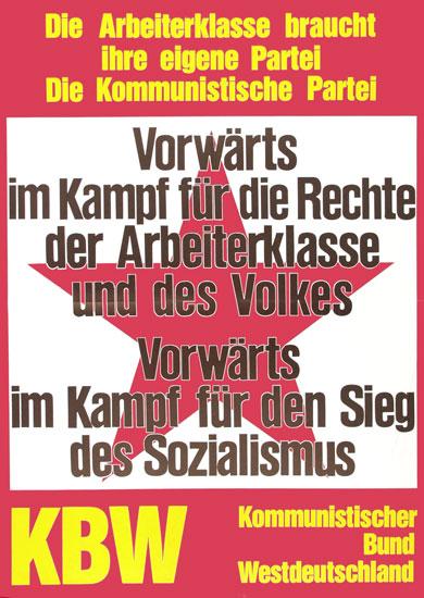 Plakat des KBW