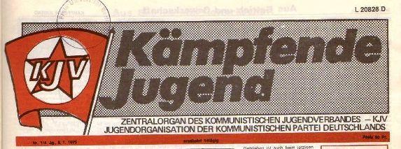 Kopf des Zentralorgans des KJV (1975)