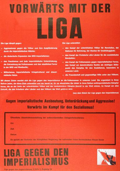 Vorwaerts mit der Liga (Plakat von 1975)