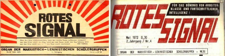 Köpfe des Roten Signals der MLSG (1971 und 1972)