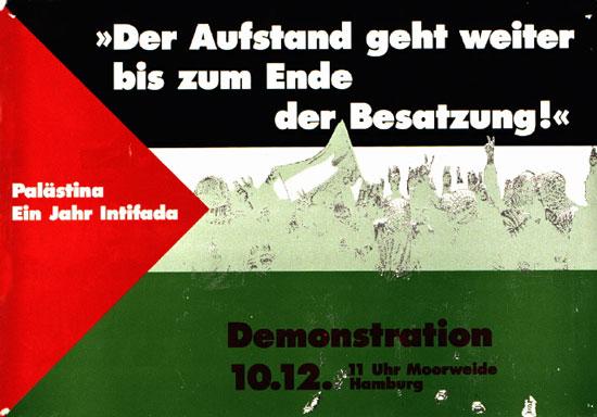 Palästina-Plakat (1988)