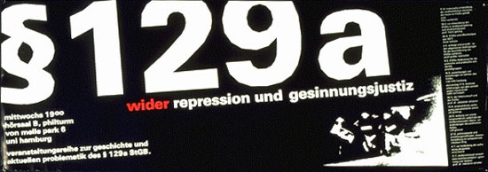 Paragraph129a _ wider repression und gesinnungsjustiz (Plakat)