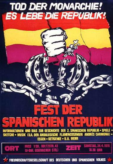 Plakat zu Spanien